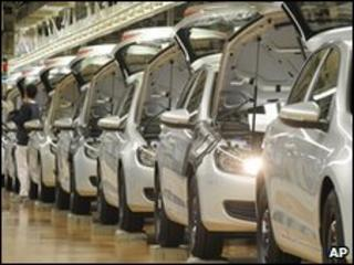 German car production line