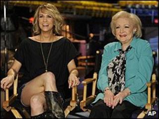 Betty White and Saturday Night Live's Kirsten Wiig