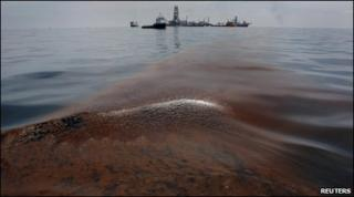 Dispersed oil caught in the Gulf of Mexico 18 May