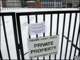 Schools shut by snow