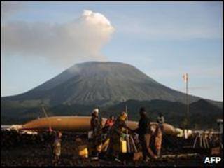 Nyiragongo volcano, Kibati, North Kivu