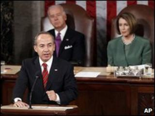 Felipe Calderon addresses US Congress