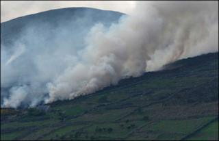 70 firefighters tackled a blaze in Camlough