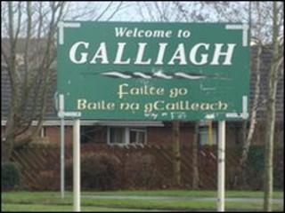 The attack happened in the Galliagh area of Derry