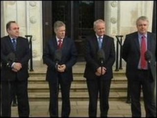 The leaders of Northern Ireland, Scotland and Wales met at Stormont