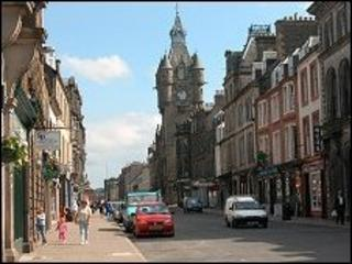 Hawick High Street (Undiscovered Scotland)