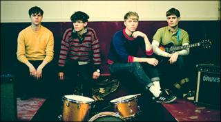 The Drums (singer Jonathan Pierce is second from right)