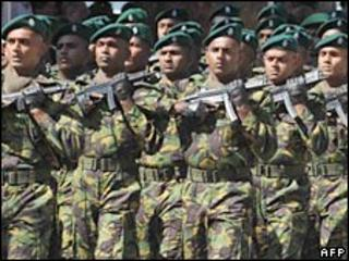 Sri Lankan troops. File photo