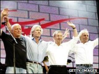Pink Floyd at Live 8 in July 2005