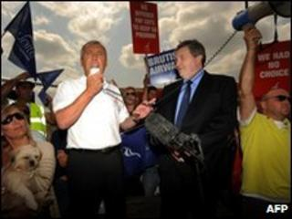 Unite joint leaders Tony Woodley and Derek Simpson