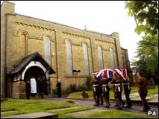 Funeral of Cpl Harvey Holmes