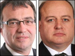 Phil Woolas, Labour MP for Oldham East and Saddleworth, (left) and Elwyn Watkins