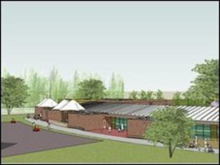 A concept drawing of the new school