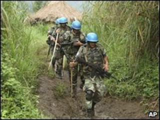 UN peacekeepers patrol in eastern DR Congo