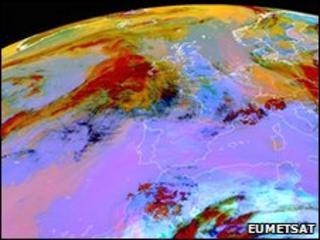Meteosat image (Eumetsat)
