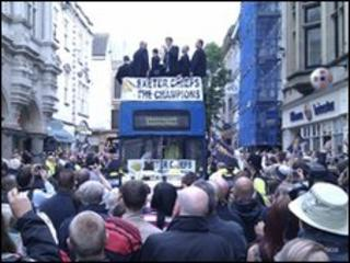 Exeter Chiefs victory parade