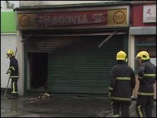 Firefighters at scene of blaze
