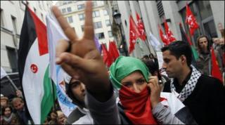 Demonstrators in Brussels