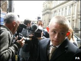 Christian Foulkes arriving in court