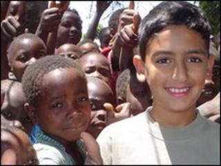 Bilaal Rajan in Malawi (photo by UNICEF)