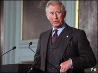 Prince Charles speaking to planners