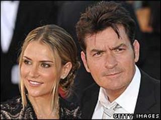 Charlie Sheen with his wife Brooke