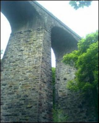 Viaduct at Healey Dell, Rochdale