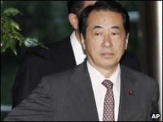 Naoto Kan, seen leaving the Prime Minister's residence on 2 June 2010