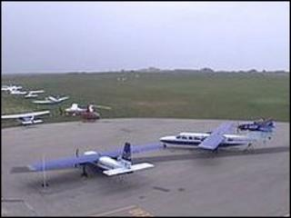 Planes at Alderney Airport