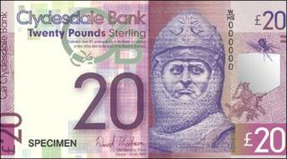Rober the Bruce on bank note