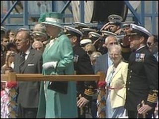 Prince Philip and the Queen at Devonport naval base