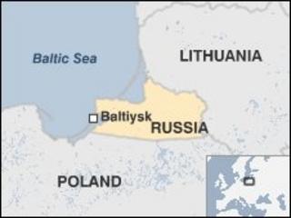 Russia/Kaliningrad map