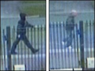 CCTV images of the two men wanted by police
