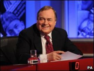 John Prescott on the set of the quiz show Have I Got News For You