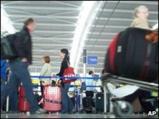 BA passengers at Heathrow Terminal Five