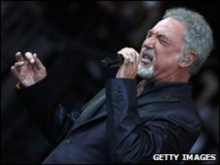 Sir Tom Jones at Glastonbury 2009