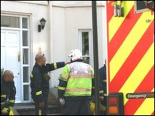 Fire crews at Dale Street, Leamington Spa