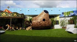 Big Brother house garden