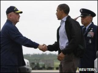 Obama arrives in Louisiana