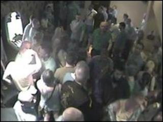 CCTV image from nightclub, in which the man was attacked