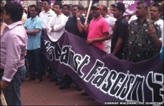 Cardiff protestors