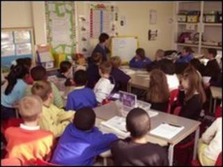 Pupils in a classroom