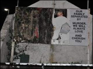 Damaged mural