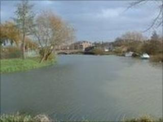 River Nene in Northampton