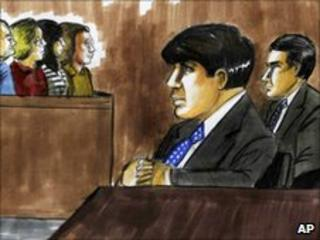 Courtroom sketch of Rod Blagojevich and his brother