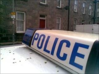 Grampian Police at death scene