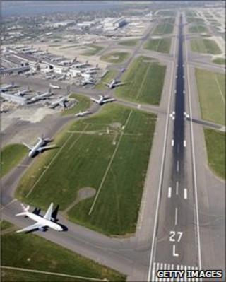 Runway at Heathrow Airport