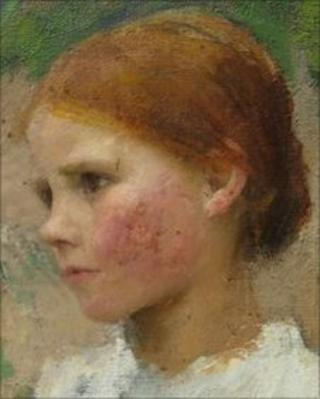 Head of A Young Girl (Rose Grimsdale) by George Clausen