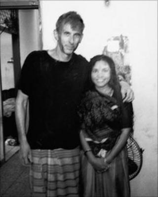 Roy Moxham (left) and Phoolan Devi