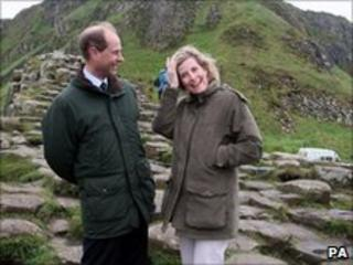 The Earl and Countess of Wessex also visited the Giant's Causeway